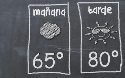 Cielo ligeramente nublado y temperatura moderada para este lunes en Los...