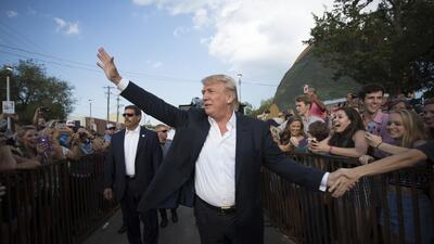 Donald Trump en un evento en Oklahoma City