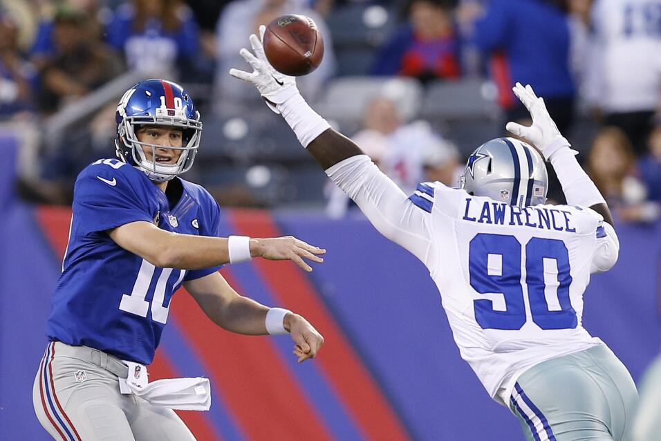Los New York Giants vencieron 27 - 20 a los Dallas Cowboys para romper u...
