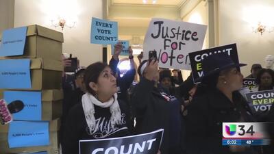 Encuentro para pedir el conteo de votos en Georgia terminó en arrestos