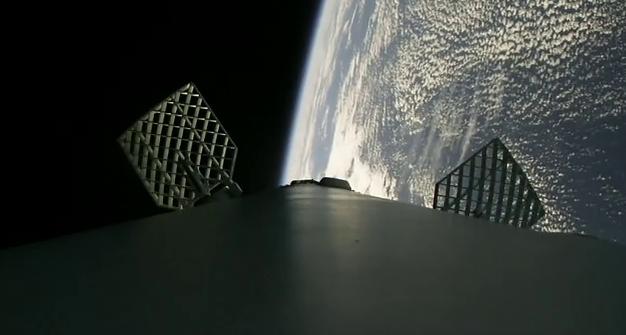 Alerones de la primera fase de la nave.