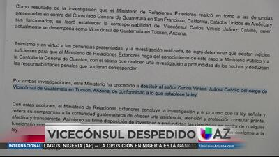 Despiden diplomático guatemalteco por corrupción