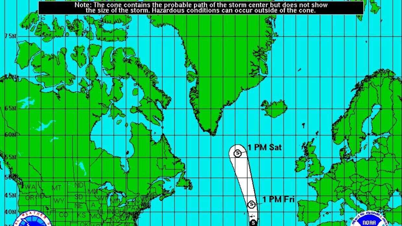 El inusual fenómero se formó el 13 de enero de 2016 en el Atlántico.