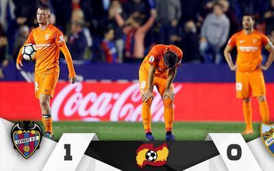 El Málaga perdió la categoría al caer ante Levante.