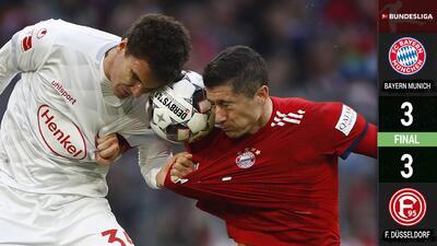 Infortunio para Kovac: Bayern fue empatado 3-3 por el Fortuna