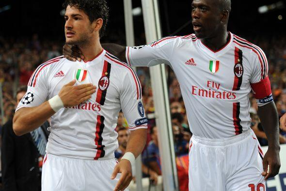 El Milan festejaba en España una ventaja muy importante.