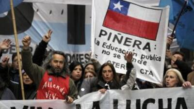 La Asamblea Nacional del Colegio de Profesores de Chile convocó a un par...