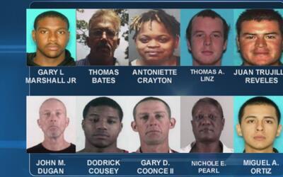 Actualizan la lista de los 10 fugitivos más buscados del condado Tarrant