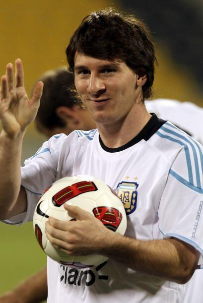 La máxima figura del seleccionado rioplatense, Leo Messi. Fue uno de los...