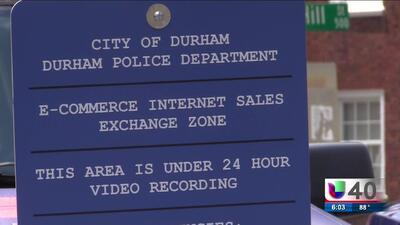 Policía de Durham instala una zona segura para completar transacciones en línea