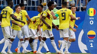 Colombia, con gol de Yerry Mina, venció 1-0 a Senegal y avanzó a los octavos de final
