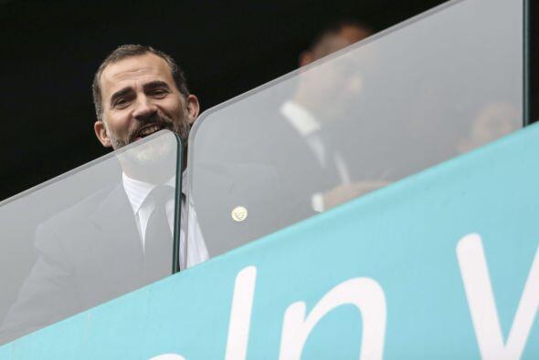El príncipe Felipe viajó junto a Mariano Rajoy, presidente del gobierno...