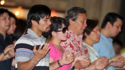Manny Pacquiao quiere dedicarle más tiempo a la iglesia.