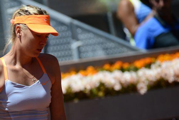 Sharapova tenía problemas con su servicio.