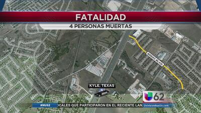 Choque vehicular sobre la I-35 en Kyle deja a cuatro muertos