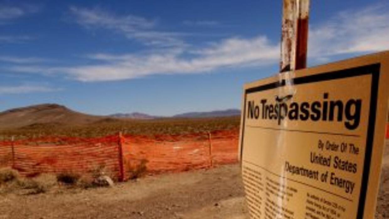 Vertedero de residuos nucleares en Yucca, Nevada.