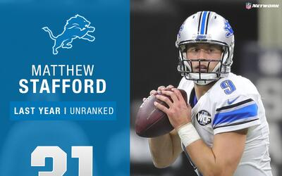 #31: Matthew Stafford (QB, Lions) | Top 100 Jugadores 2017
