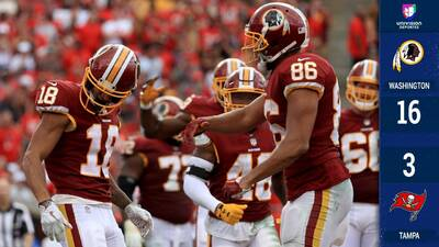 Los Redskins vuelven a la senda de la victoria con triunfo en gira sobre Tampa Bay