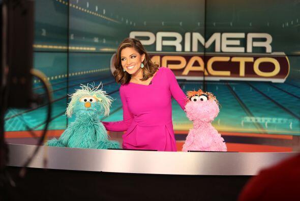 Elmo, Rosita y Lola estuvieron en nuestro programa. No se pierdan...