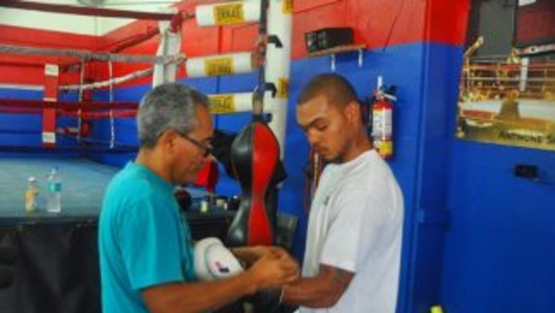 Jorge Rubio y Ed Paredes en un moemnto del entrenamiento. (Reynaldo Sánc...