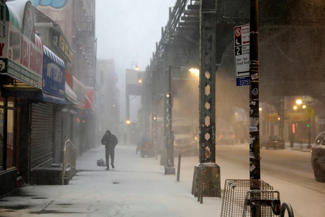 Nueva York ya experimentó un poderoso ciclón invernal en enero.