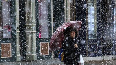 En fotos: Nieve y relámpagos caen en el noreste de EEUU
