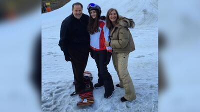 ¡Raúl de Molina y Mia son unos expertos 'snowboarding'!