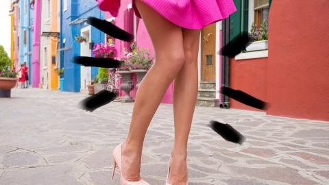 Luce unas piernas espectaculares esta temporada.