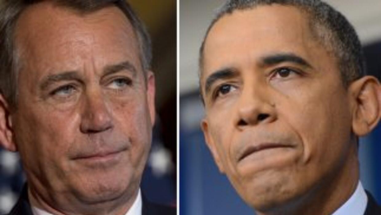 El legislador John Boehner, presidente de la Cámara de Representantes y...