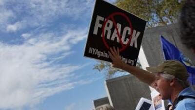 Nueva York en contra de la fractura hidráulica