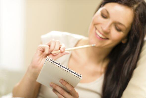 Apunta el ejercicio que realizas. Lleva un diario en el que puedas escri...