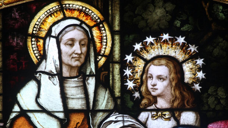 Santa Ana y la Virgen María