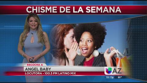 Angel Baby de Latino Mix 100.3 y El Chisme de la Semana en Noticias Univ...