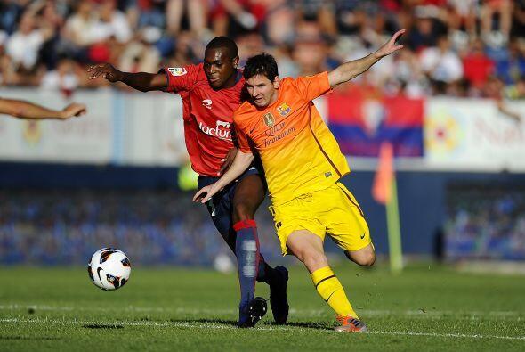 El Barcelona había su primer juego como visitante en la segunda f...