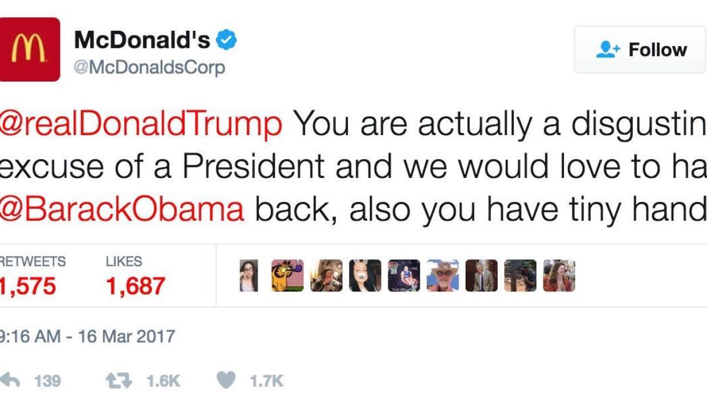 El tuit de McDonald's