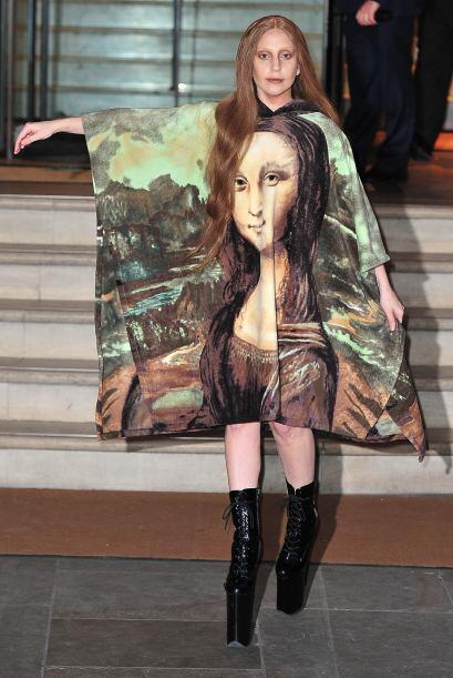¡El arte de Da Vinci también ha sido víctima de la mente alocada de Gaga...