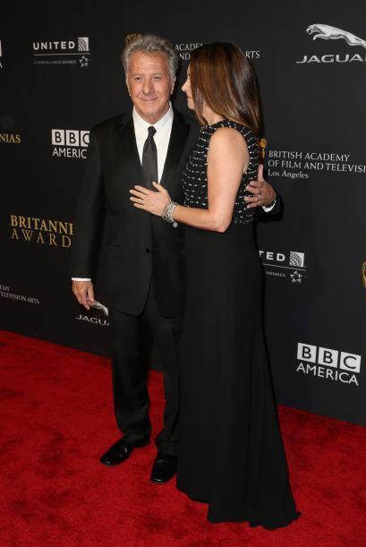 Dustin Hoffman y Lisa Hoffman fueron los más amorosos de esta alfombra r...