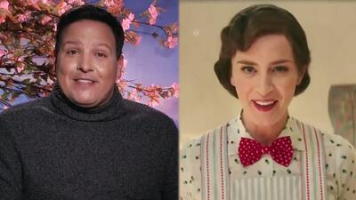 Emily Blunt revela que voló a más de 60 pies de altura para ser Mary Poppins (y Raúl no lo podía creer)