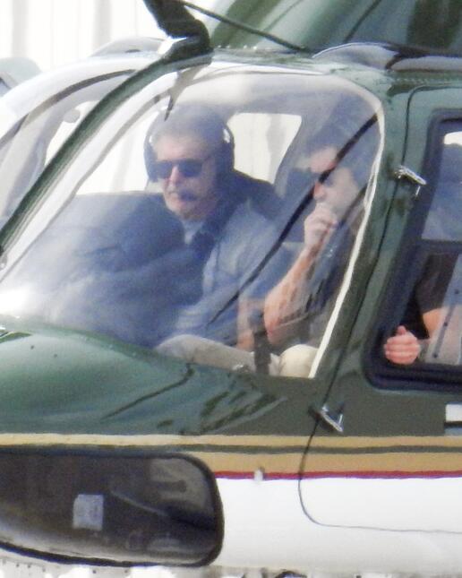Harrison Ford es todo un piloto experto