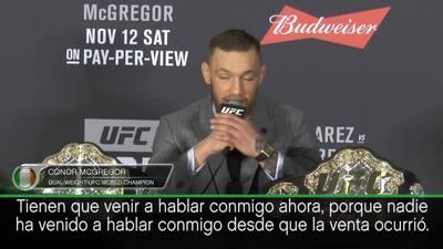 """Conor McGregor reclama a la UFC: """"Quiero lo que merezco"""""""