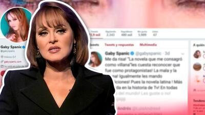 Gaby Spanic se molesta porque dicen que es villana y no protagonista de telenovelas