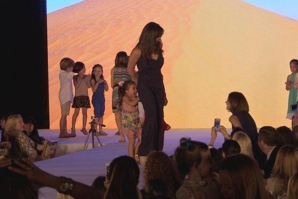 Camila, la hija menor de Bárbara estaba bien emocionada durante los ensa...