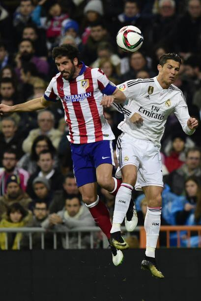 Pero el Atlético no iba a dejarles las cosas fáciles a Cristiano y compa...