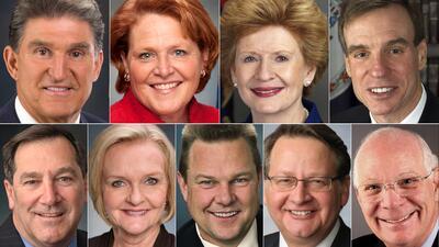 Los 9 senadores demócratas que tienen en sus manos el futuro de DACA (fotos)