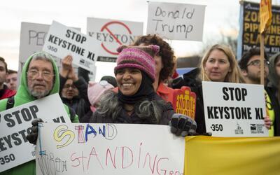 En enero de este año, los opositores a los oleoductos Keystone XL...