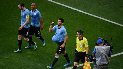 Luis Suárez festejó con gol la llegada de su tercer hijo
