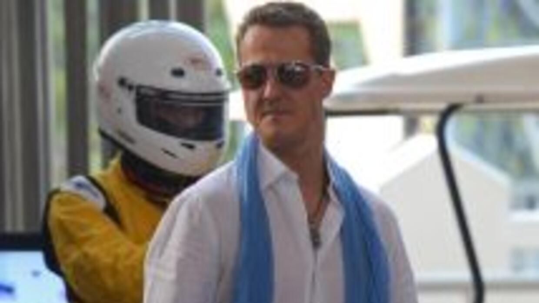 Schumacher se estrelló contra una piedra en Los Alpes franceses.