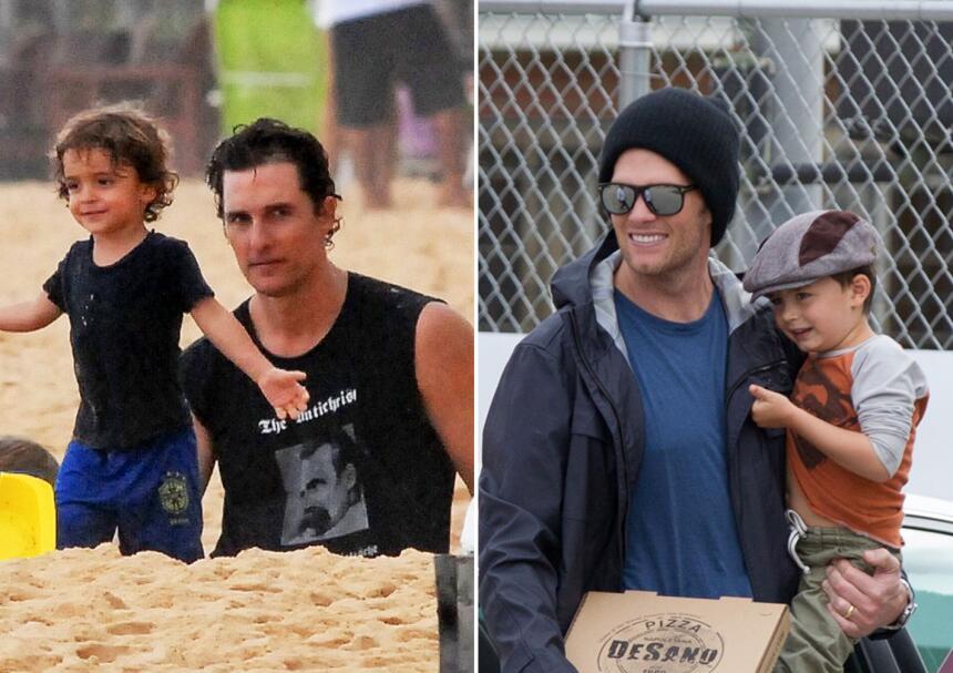 Los niños idénticos a sus famosos papás