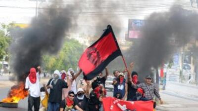 La huelga de maestros en Honduras entró en su quitna semana y el gobiern...