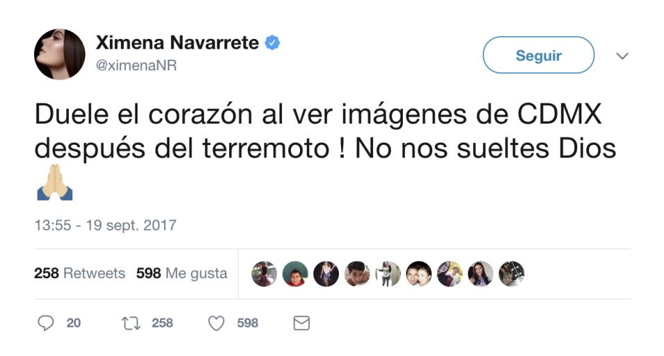 Miss Universo 2010, la actriz Ximena Navarrete, rogó por la prote...